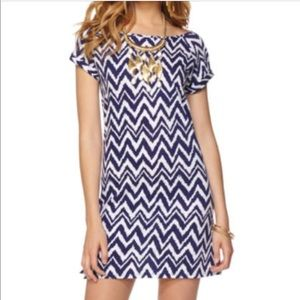 Lilly Pulitzer Palmer shirt dress chevron